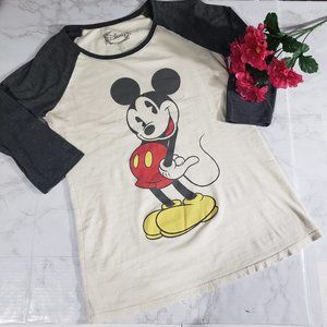 Disney Mickey Mouse Fitted Tee Small White